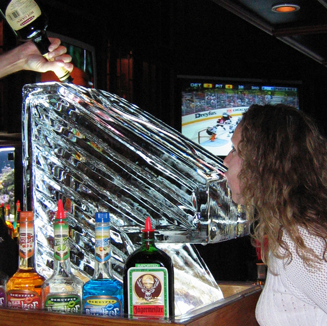 alcohol bone luge stunt