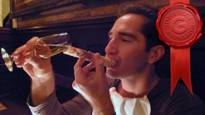 The vodka bone luge