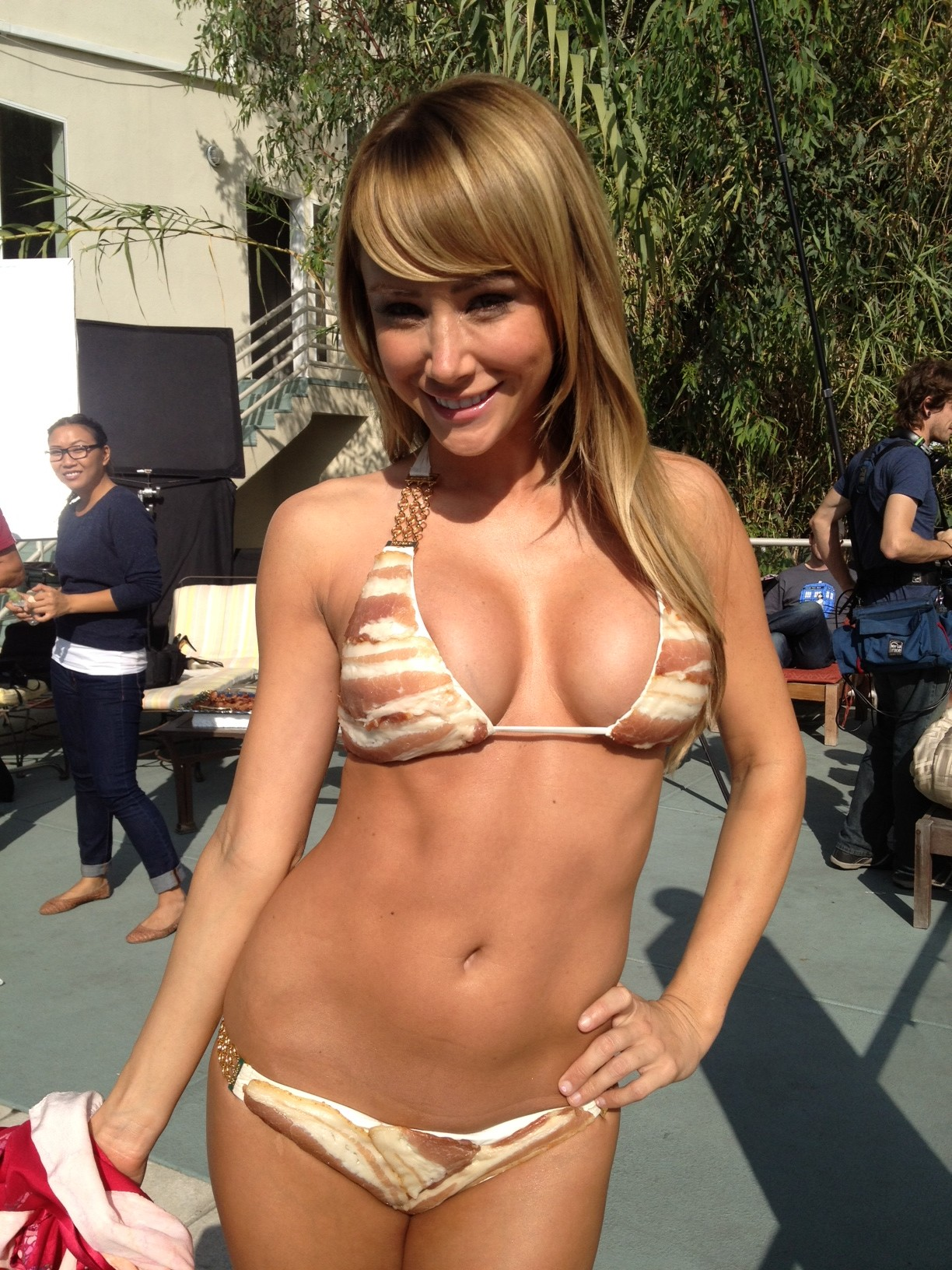 Sara Underwood's Bacon Bikini! LET BACON BE BACON! With ...