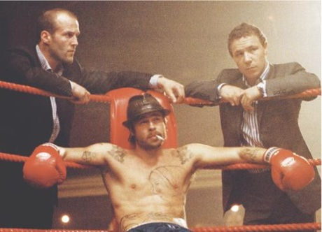 In <em>Snatch</em>, unlicensened boxing is depicted as being ultra-violent, out of control, and supremely entertaining. Naturally.