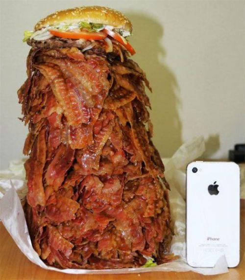 bacon burger supersized