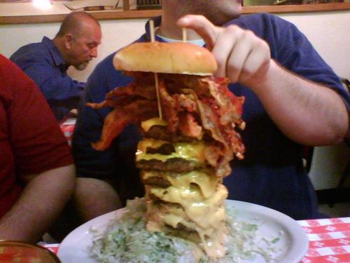 huge bacon burger