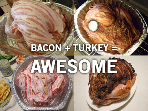 thanksgiving turkey wrapped in bacon