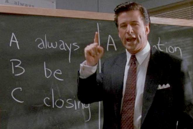 "Classic A-B-C's – ""Always Be Cheering"" Glengarry Glen Ross ..."