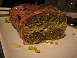 meatloaf and macaroni and cheese