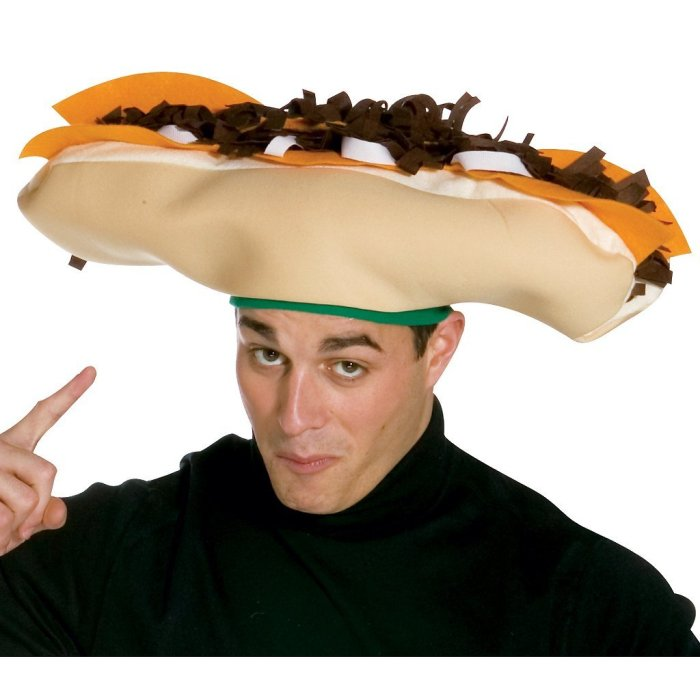 forget cheeseburgers go cheeseheads i mean who doesnt love a good cheese steak on their head get all the laughs and grab all the attention in this