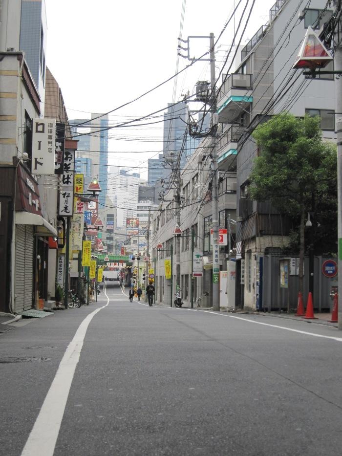 Tokyo long empty street