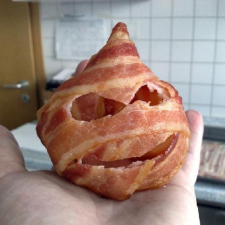 funny bacon head picture