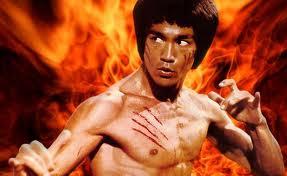 Bruce Lee fighting pose