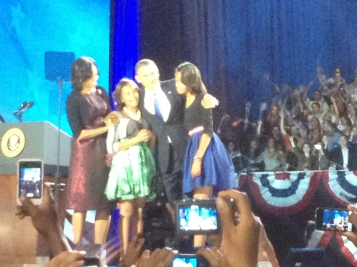 The Obamas on election night