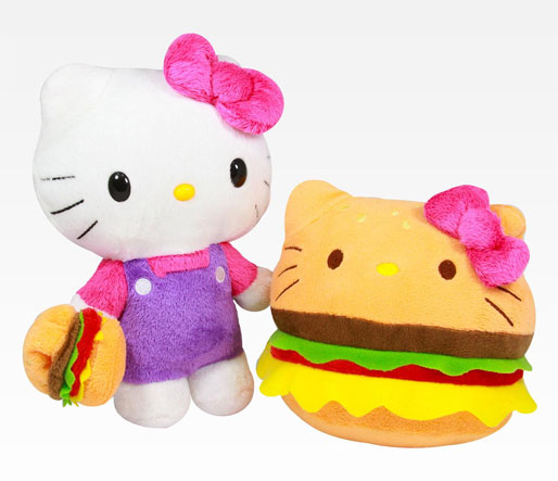 "Hello Kitty Stuff Toys : Cheeseburger ""hello kittys great holiday"