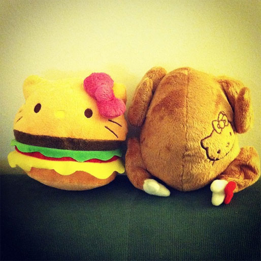 Cheeseburger Hello Kitty Doll
