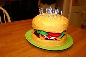 bacon cheeseburger birthday cake