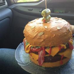 Bacon cheeseburger cakes
