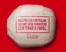 Bob's Brazil burger wrapper