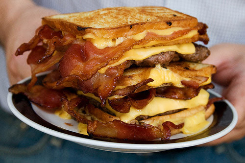 double bacon melt