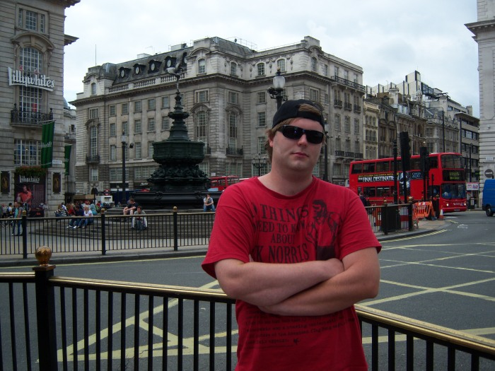 Jeff at Picadilly Circus
