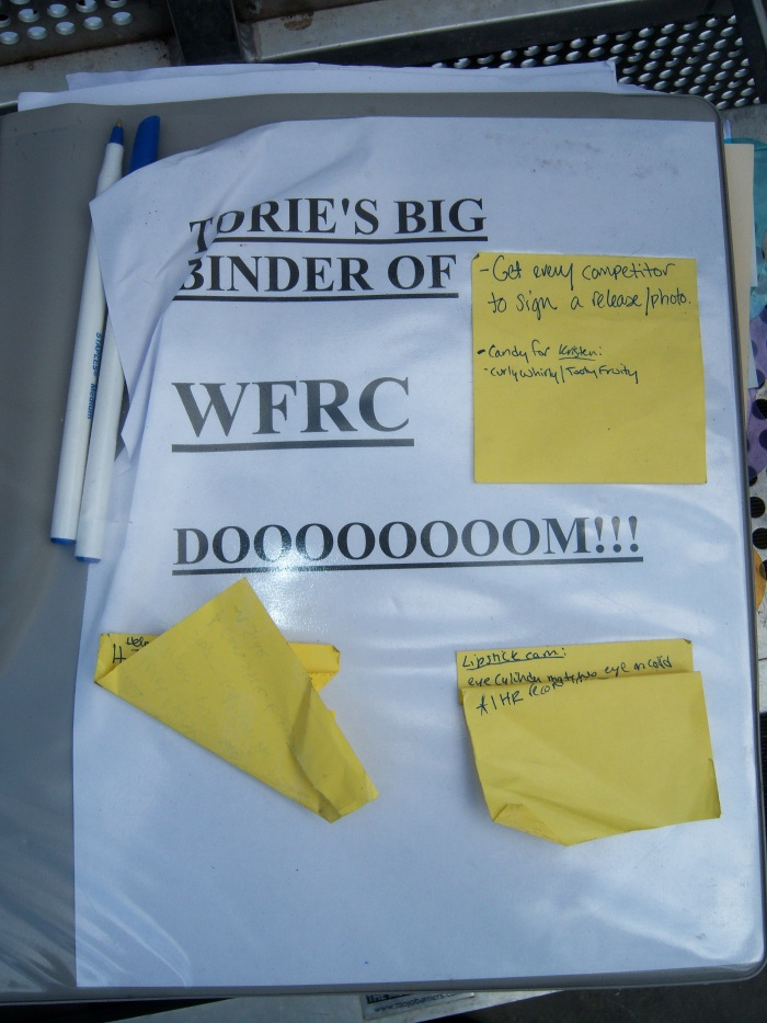 Torie production binder