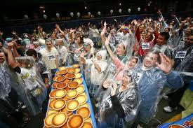 world's biggest custard pie fight