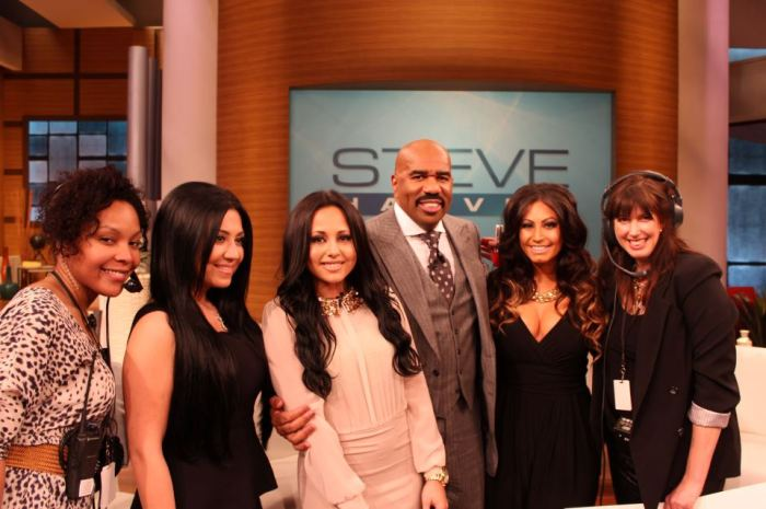 steve harvey, alex duda and jerseylicious cast
