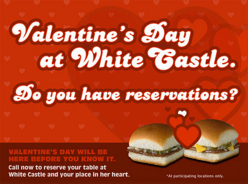 white castle valentines day