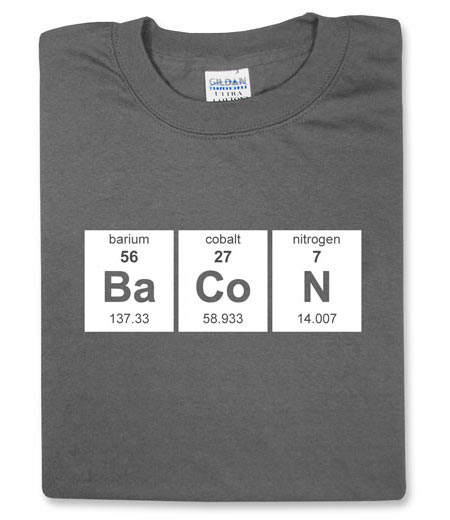 bacon-elements t-shirt