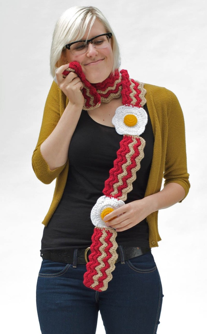 bacon clothing scarf