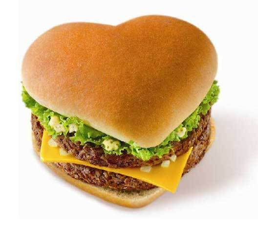 Heart shaped i love you burgers bacon roses valentine for Burger de