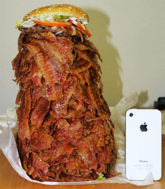 1,000 slice bacon cheeseburger