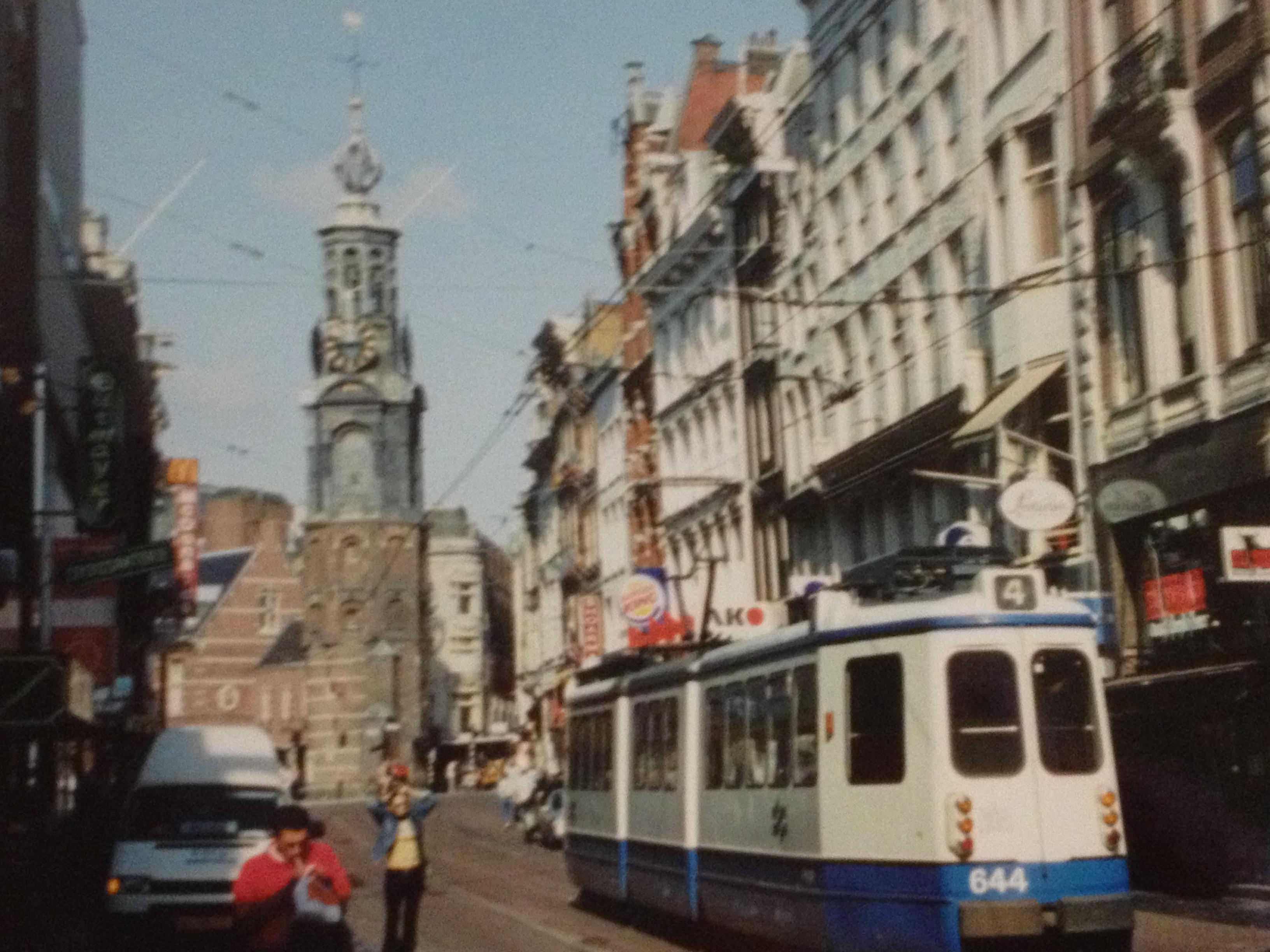 Amsterdam street train