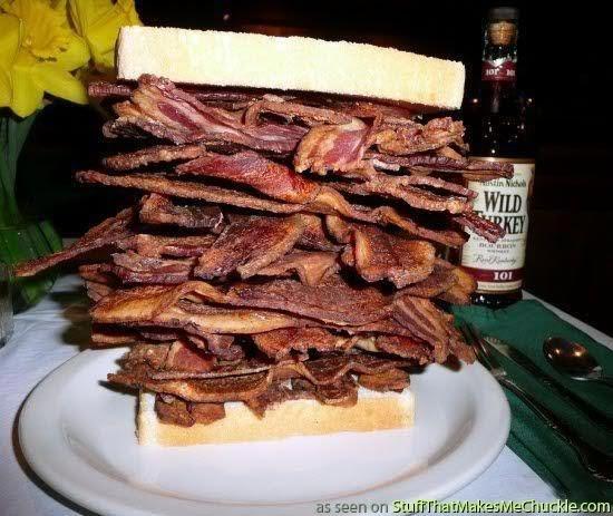 supersized bacon sandwich