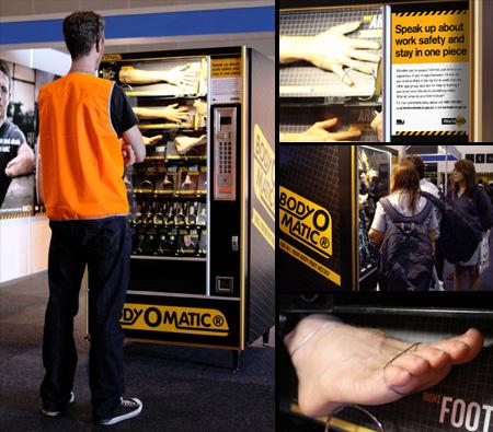 amazing vending machines whiskey body parts mashed potatoes too