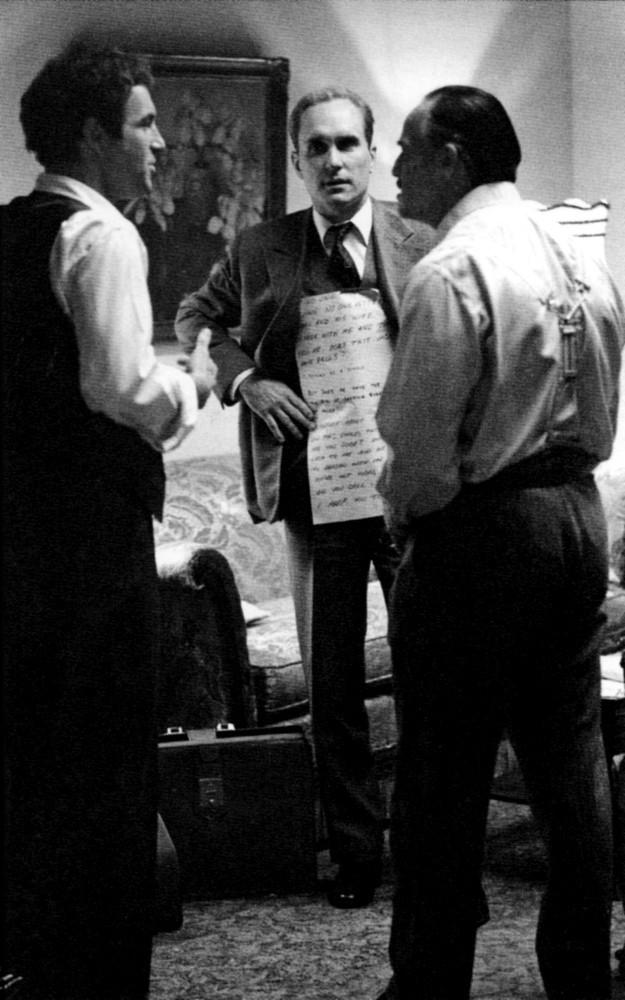 The Godfather Brando cue cards