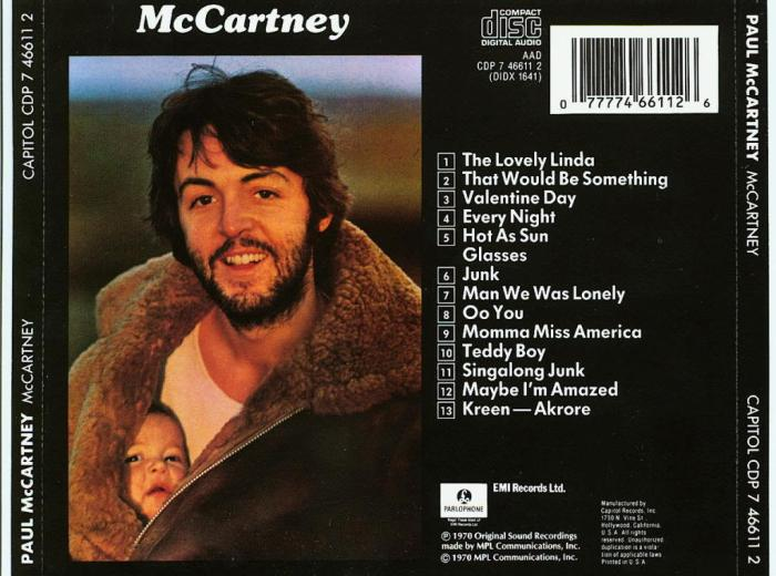 Paul McCartney solo work