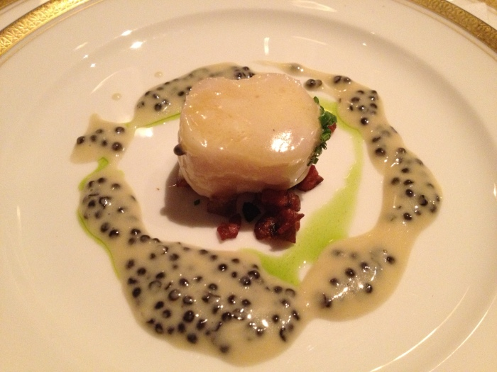 The Hunt menu sturgeon and caviar