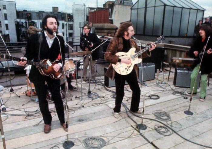 The Beatles Rooftop Performance