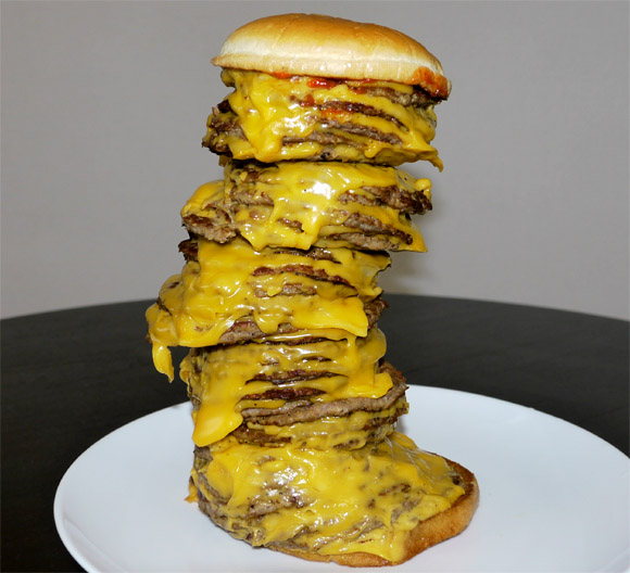 9 patty mega burger