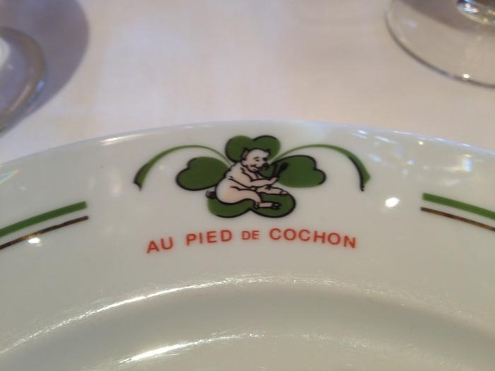 Au Pied de Cochon Paris plate