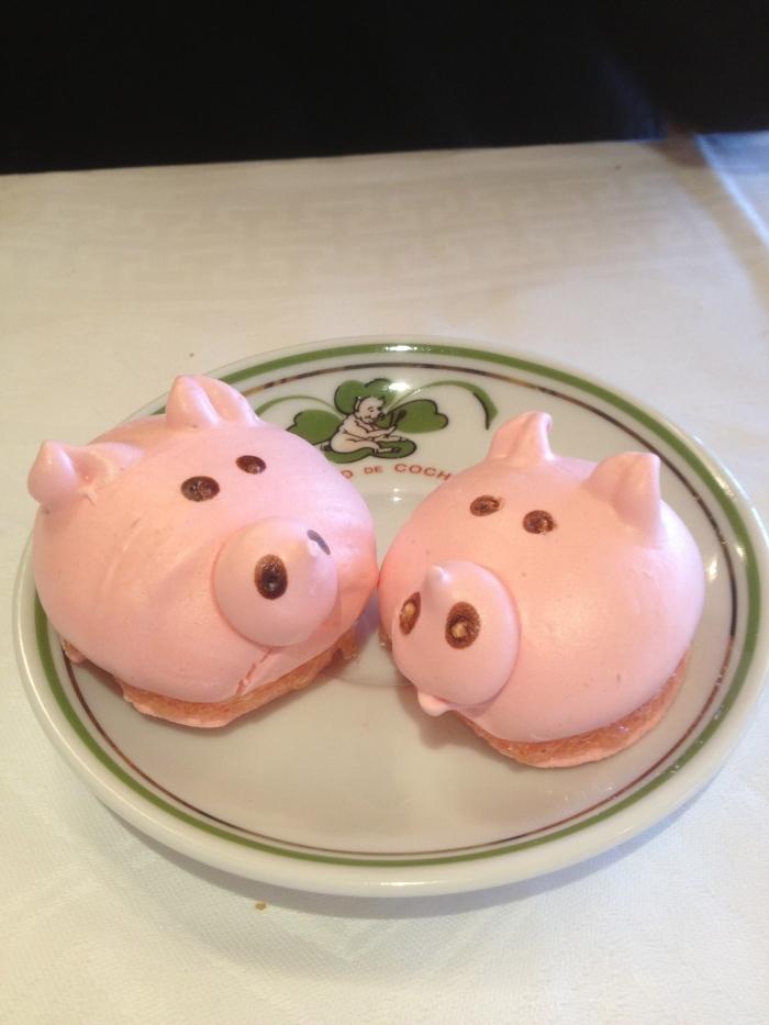 Au Pied de Cochon pig dessert