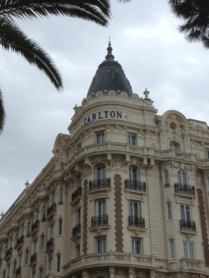 Cannes Carlton Hotel signage