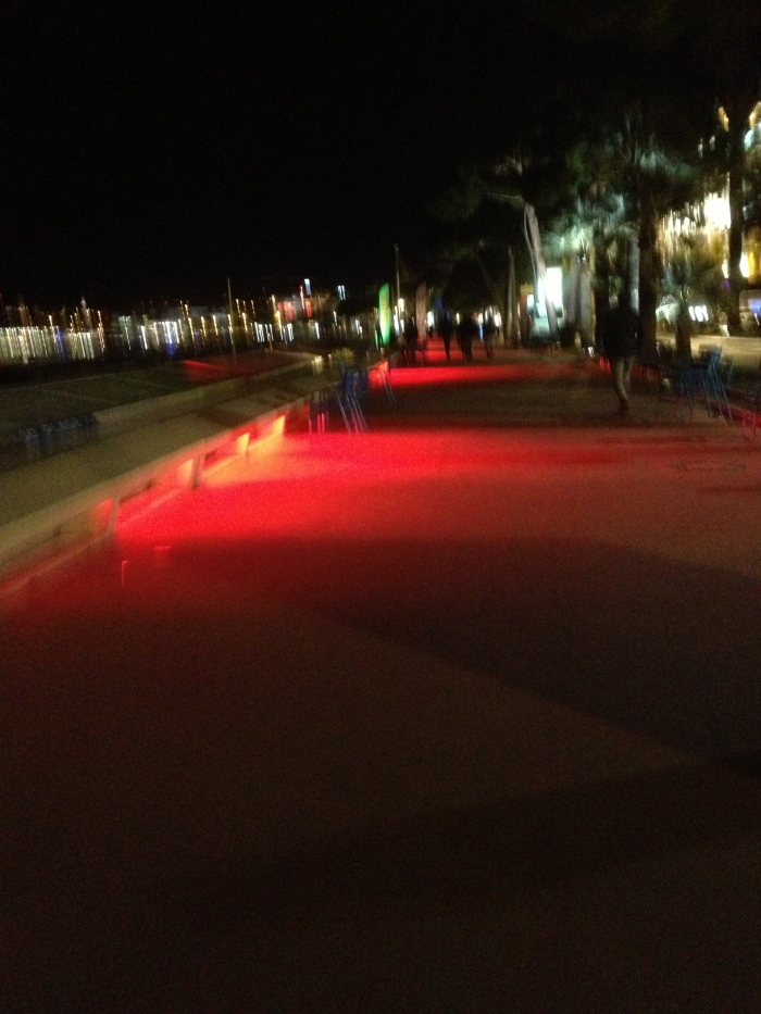 Cannes Croisette at night
