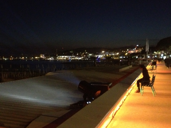 Cannes France Croisette at night
