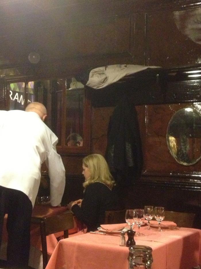 Chez L'Ami Louis coat hanging style