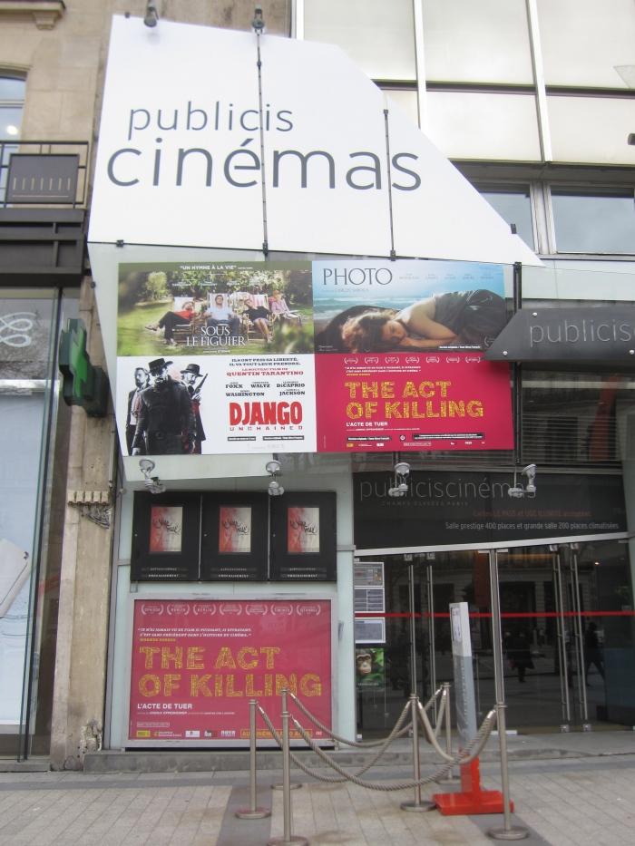 Django Unchained Paris Theater