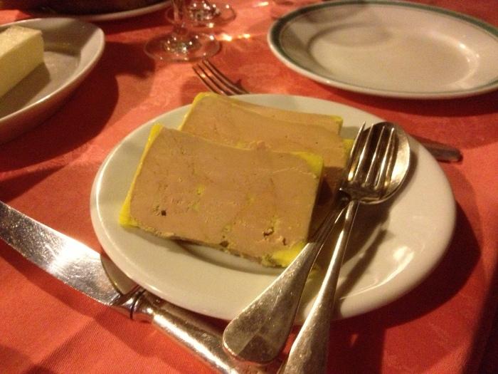 Paris bistro foie gras