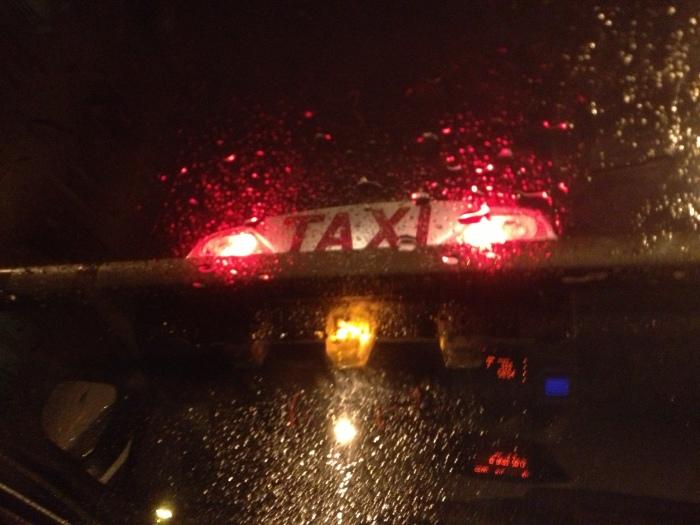 Paris Taxi in the rain