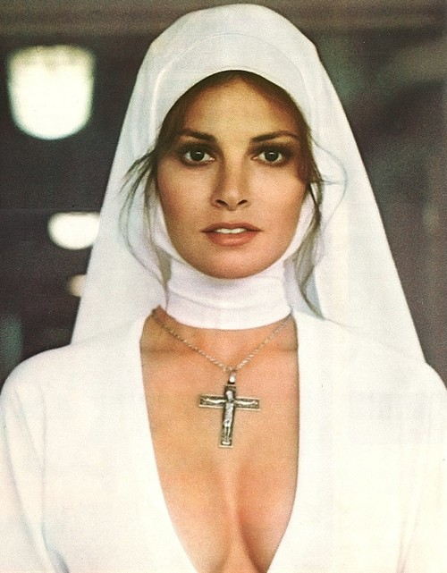Raquel Welch as sexy nun