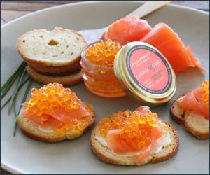 bacon and egg caviar
