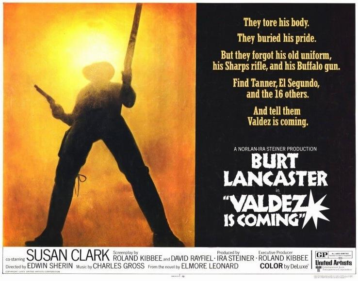 Valdez Is Coming Lawman Gun-Blazing Burt Lancaster -7130