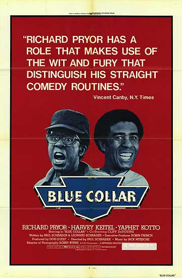 Blue Collar movie poster Richard Pryor